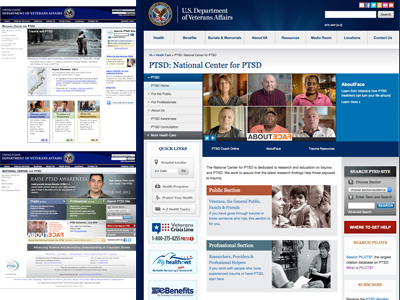 Image of National Center for PTSD Website